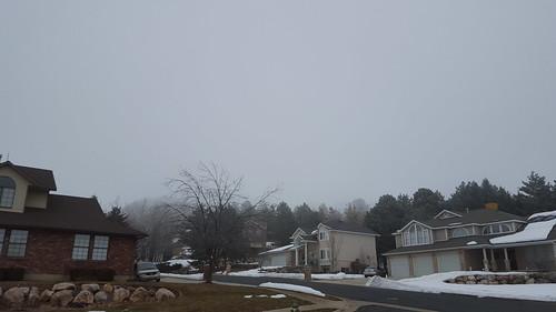 winter fog landscape utah view north ogden thick pleasant