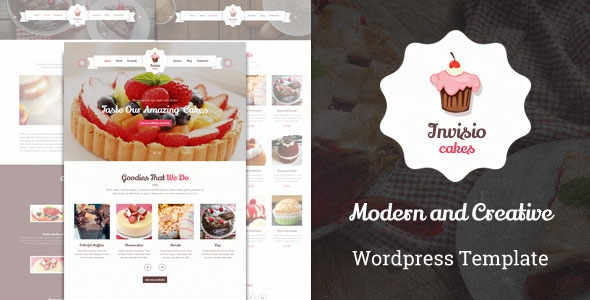 Themeforest Invisio Cake v1.0 - Sweet Food Theme