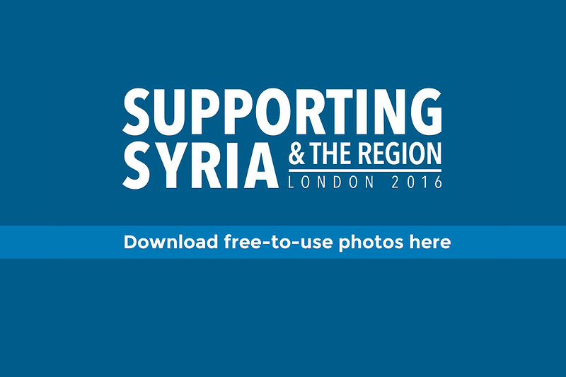 Supporting Syria conference - live photos