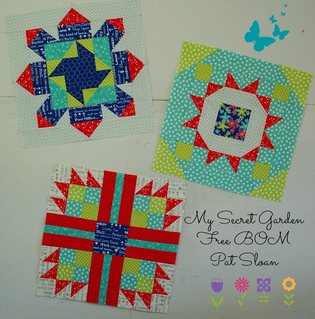 Pat Sloan the Secret Garden Block all the HTG blocks