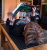 Under a book