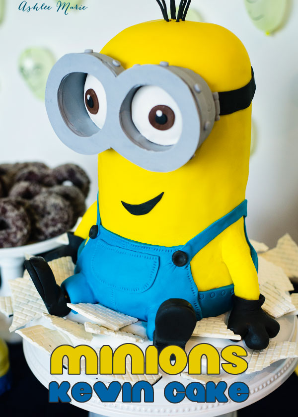 Giant Kevin Minion Cake Video Tutorial Ashlee Marie Real Fun