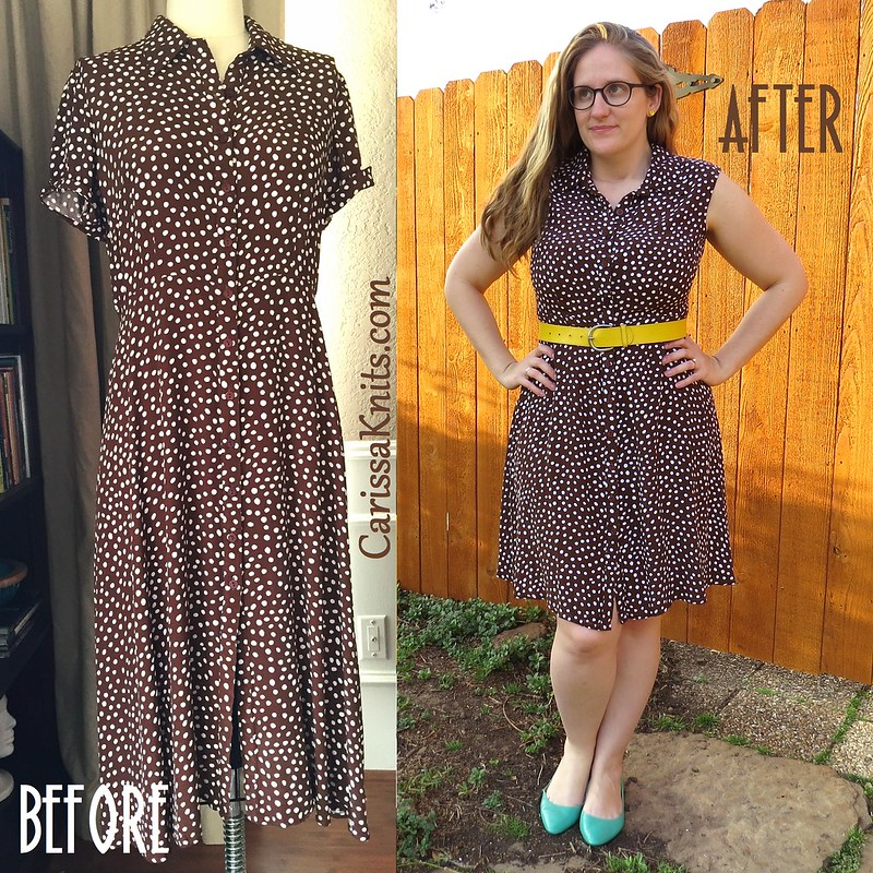 Brown Polka Dot Dress - Before & After