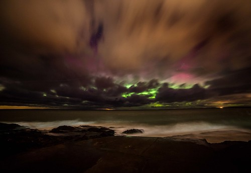 Cloudy night for northern lights