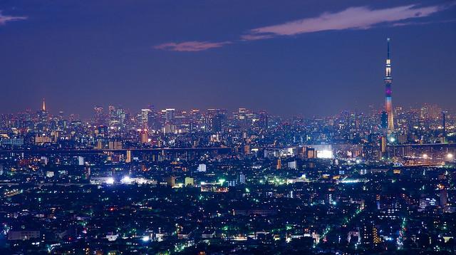 東京スカイツリー バレンタイン・スペシャルライティング Tokyo Sky Tree in Valentine Specal Lighting