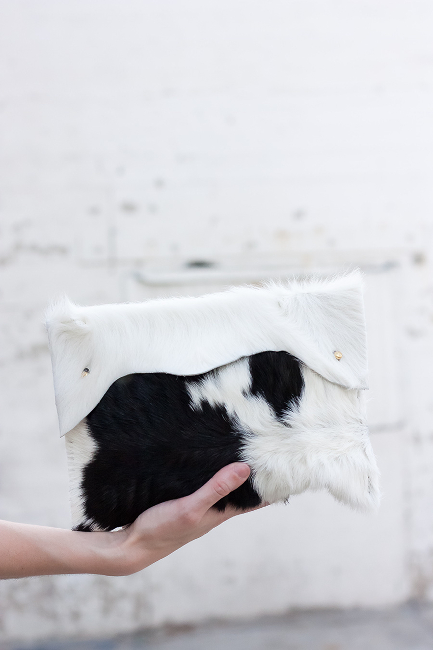 Walter and George Clutch, Cowhide Clutch