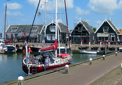 The harbour and waterfront at Marken, Holland