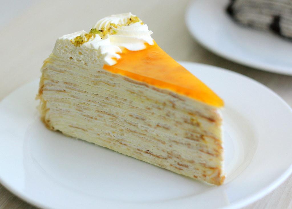Malacca Food Guide: Nadeje Mille Crepe Cake Mango Yogurt