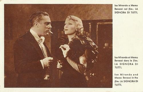 Isa Miranda and Memo Benassi in La signora di tutti (1934)