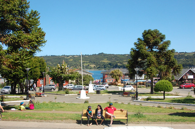Plaza in Dalcahue, Chiloé, Chile