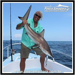 Nem sempre o que se espera é o que se pesca. Surpresas da pescaria... Ian-Arthur com um tubarão fisgado no Panamá  #pescaesportiva #sportfishing #fishing #flyfishing #fish #bassfishing #pescador #angler #tubarao #shark #pescaamadora #pesqueesolte #baitcas