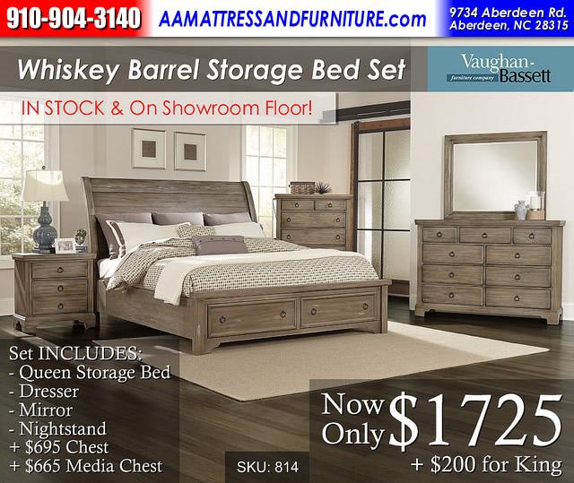 Whiskey Barrel Storage