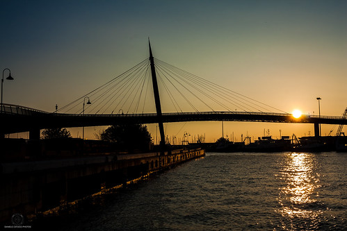 bridge sky italy sun colors architecture sunrise canon river landscape photography photo flickr porto pescara canon450d