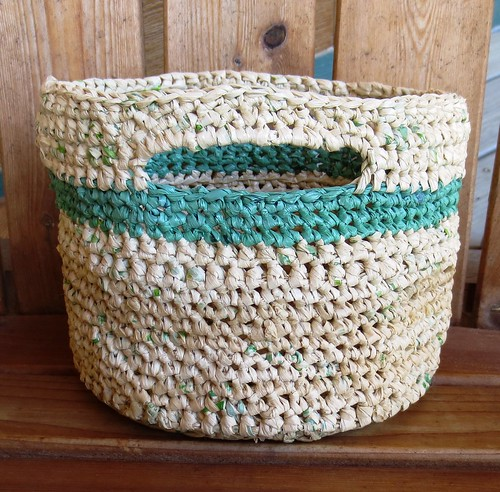 Recycled Basket with Kitchen Items