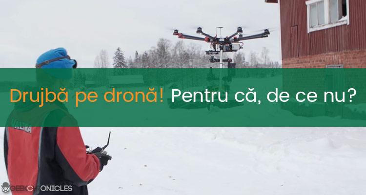 drijba pe drona