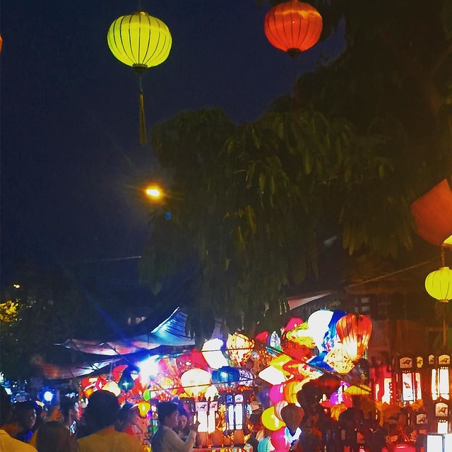 Lanterns in Hoi An. I loved the idea of bringing one home but know full well it'll look at best off and at worst tacky back in our London flat.