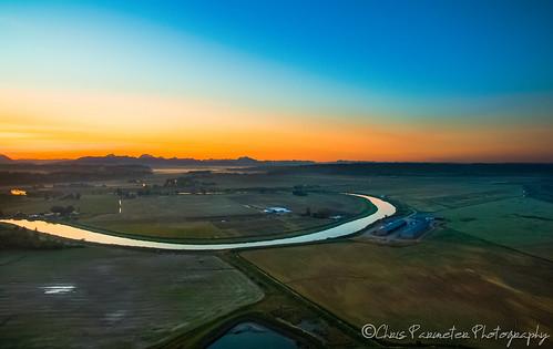 colors sunrise river landscape dawn us washington unitedstates stanwood stilliguamish