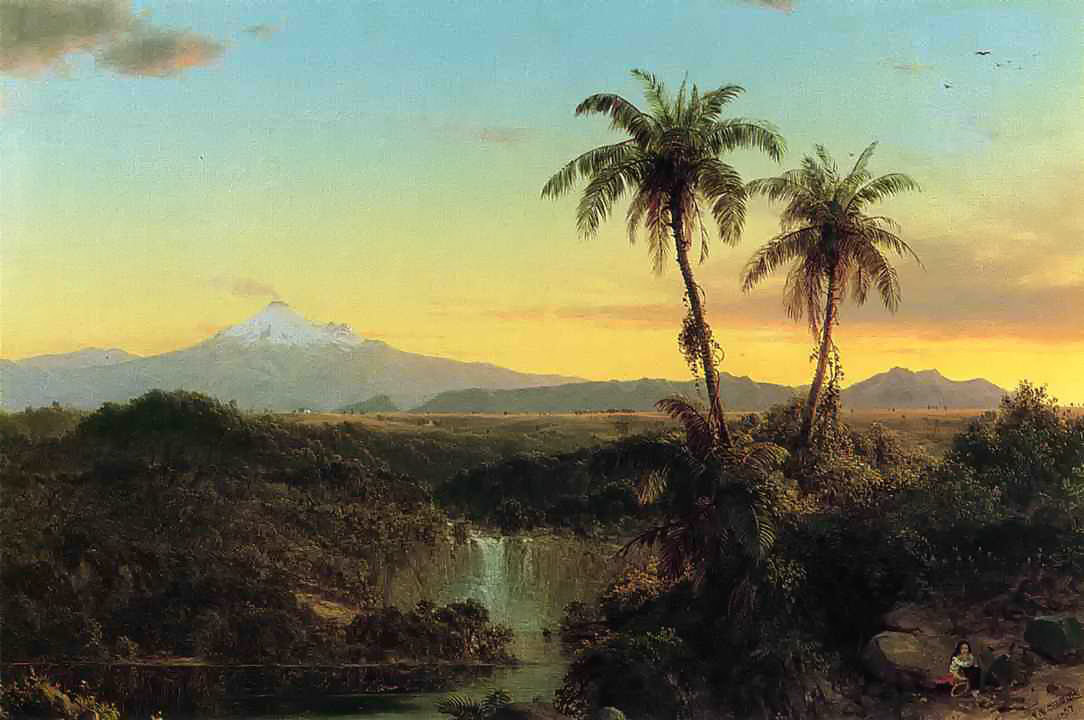 South American Landscape by Frederic Edwin Church, 1857