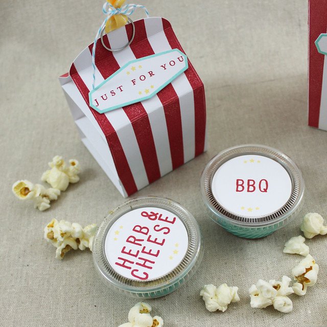 Popcorn Seasoning Container & Ramekins