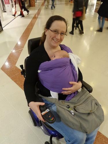 Jamie in sling