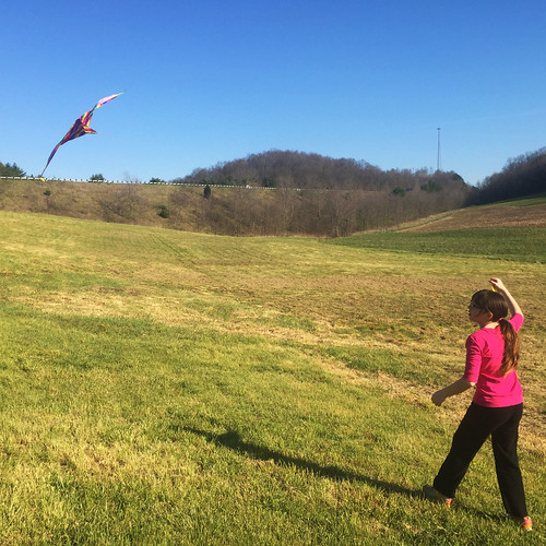 Julia flies a kite