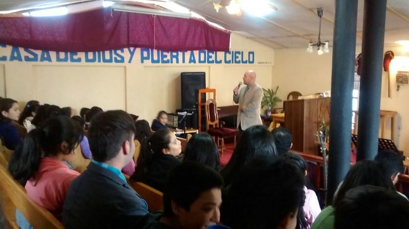 Lenga visita Escuela Dominical de Hualqui