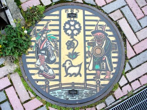 Otsu Shiga, manhole cover 2 (滋賀県大津市のマンホール2)