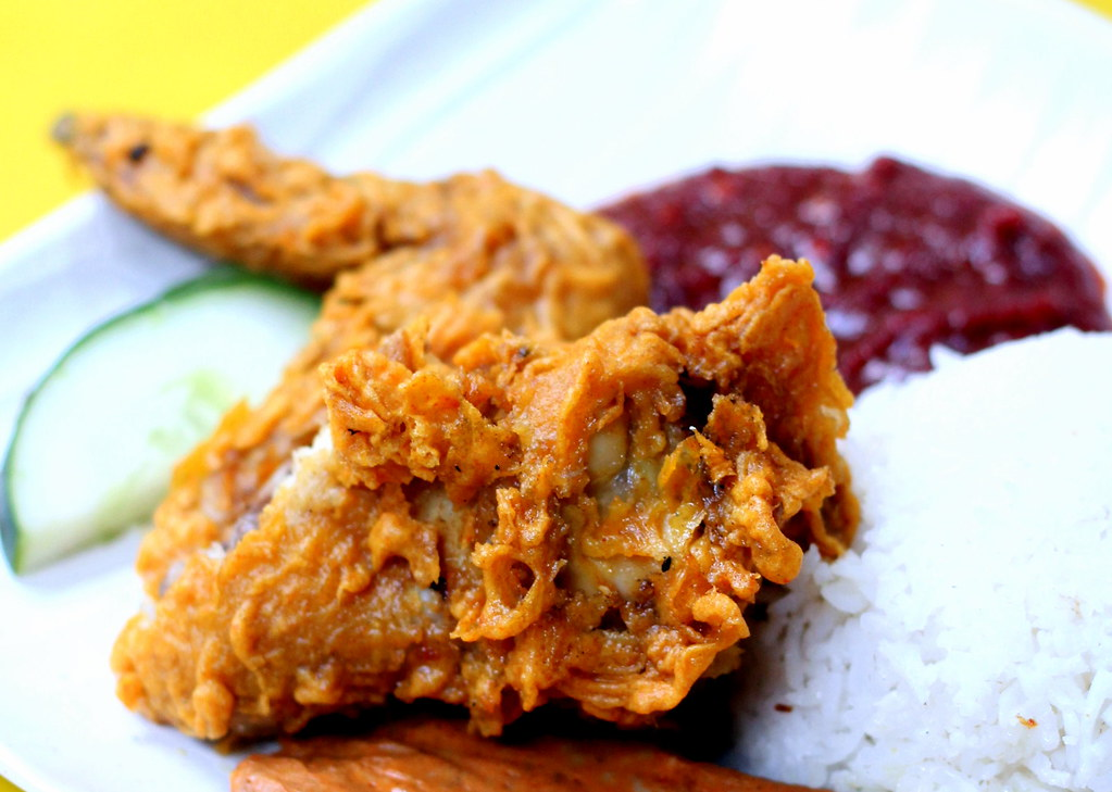 Downtown MRT Line Hawker Food: Selera Rasa Nasi Lemak Deepfried Chicken Wing