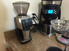 Stepping up my coffee game: new grinding droid unit now operational.