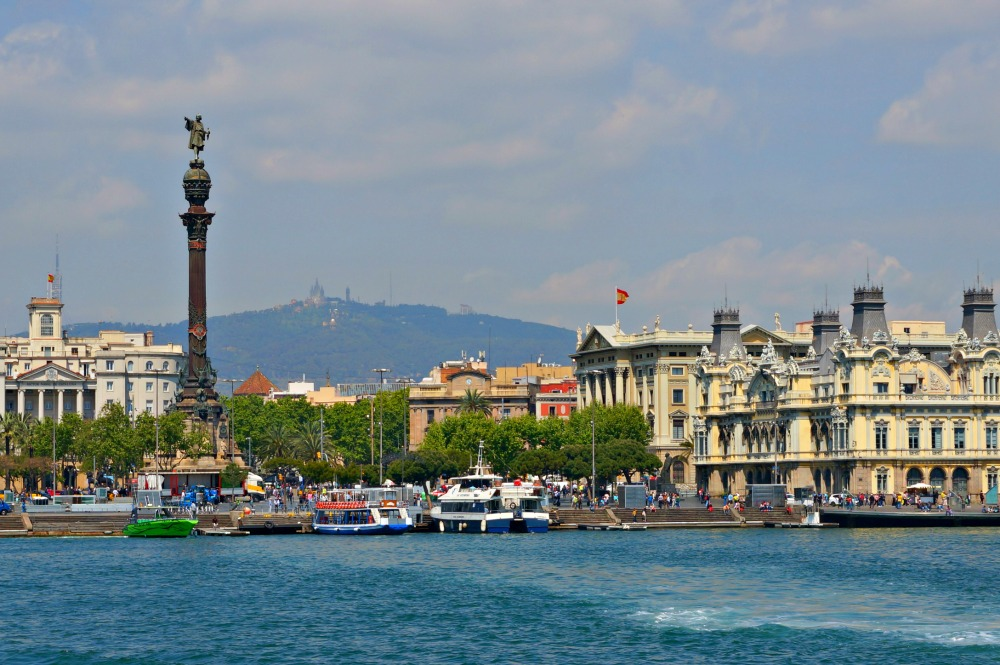 View of Barcelona from the sea