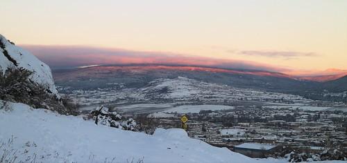 park winter sunset sky cloud snow canada dusk path hill trail townscape mostviewed vernonbc okanaganbc