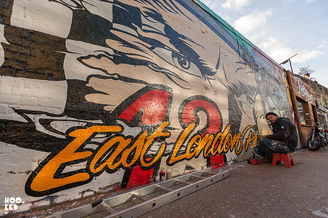 East London Rebels Mural by Street Artist D*Face in Shoreditch