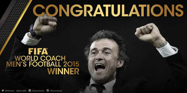 Luis Enrique mejor entrenador del 2015