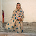 Portrait of young girl wearing a chador with Apple logos, Qeshm Island, Laft, Iran by Eric Lafforgue