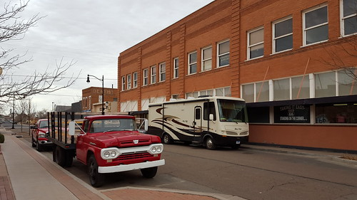 Charley and the flatbed Ford in Winslow, Arizona