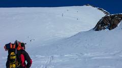 Podejście lodowcem Kesselwandferner na szczyt Fluchtkogel (3497m)