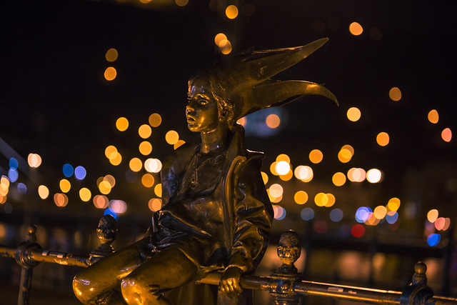 The little Princess Jester statue in Budapest