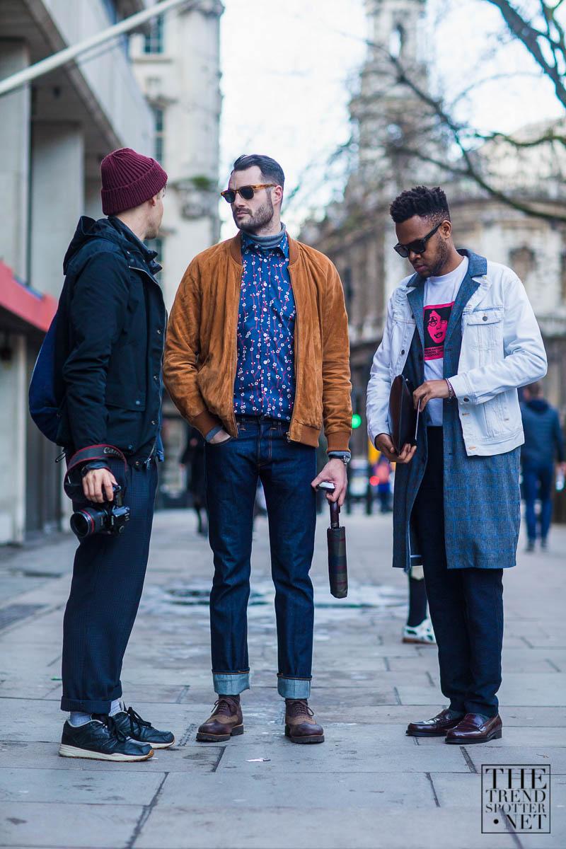 黒パーカージャケット&キャメルスエードブルゾン×紺柄シャツ&白Gジャン×チェスターコート
