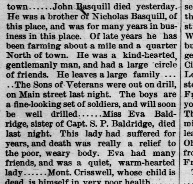The Jackson Standard (Jackson, Ohio) 1887 May 26 page 3 column 1