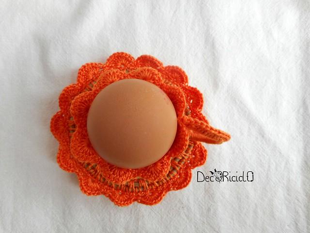 porta-uovo tazzina spago e cotone 5
