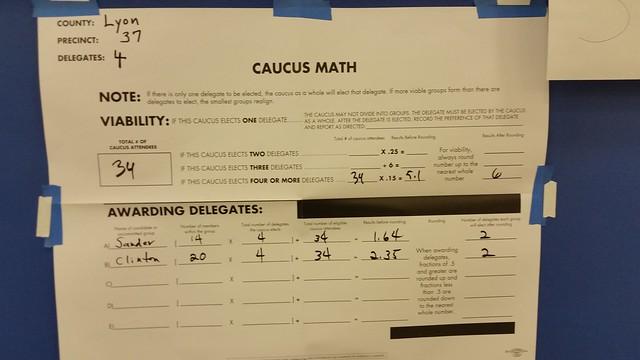 Nevada Caucus 2016: Lyon County Precinct 37
