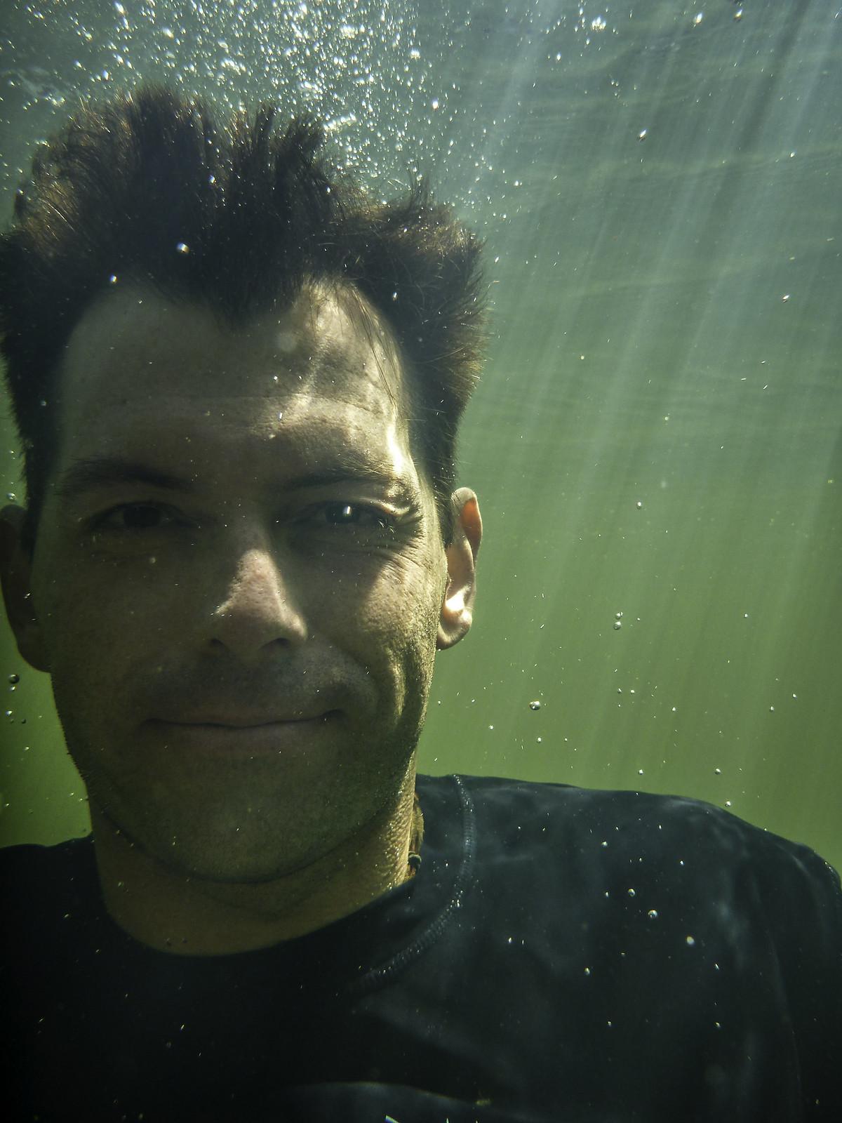 Underwater selfie #1, Douglas-Apsley waterhole, Douglas-Apsley National Park