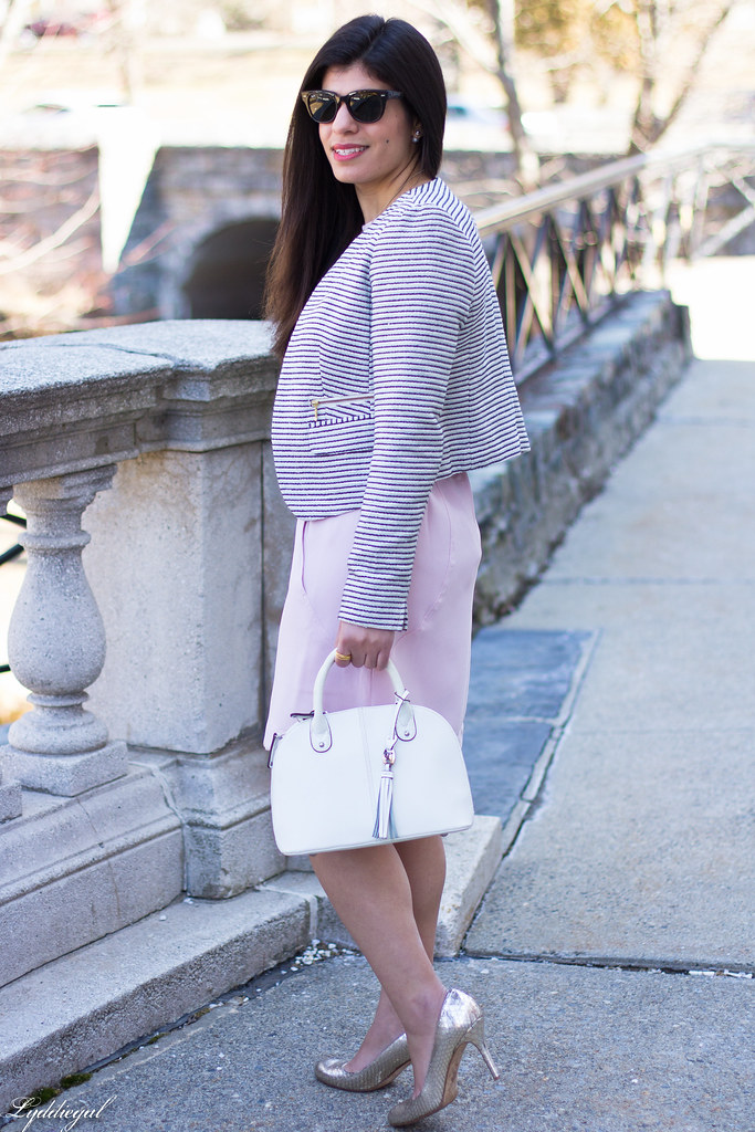 blush dress, striped blazer, white bag, silver heels-8.jpg