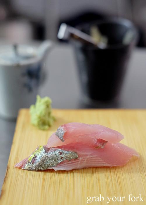 Shimaji striped mackerel sushi at Sashimi Shinsengumi, Crows Nest