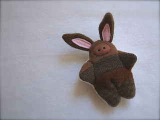 Scrappy BUNNY: Brown - brown