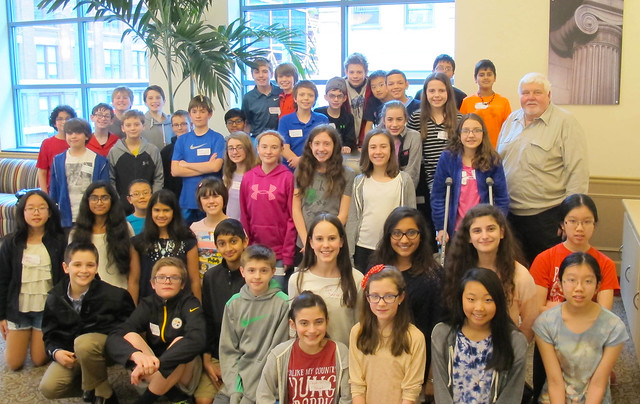 Boyce Middle School Students Visit CSI House