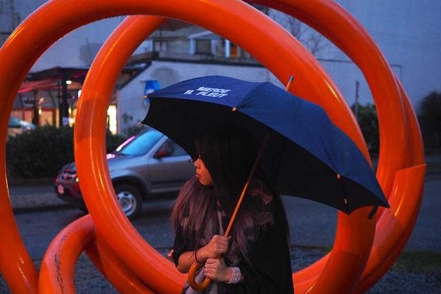 Kent Street Apparel 'Merde Il Pleut' Umbrella | Robson Street, Vancouver