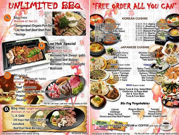 Pioneer Restaurant Menu