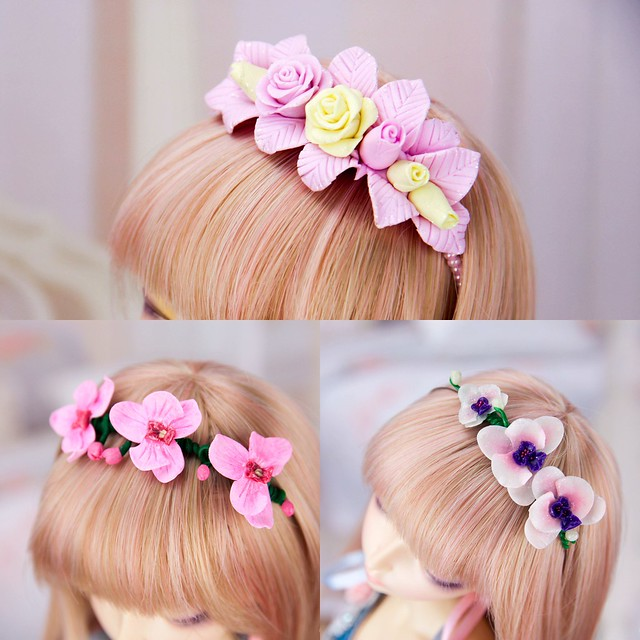 Flower headbands options. Etsy