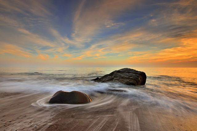 枋山 ~漩渦激浪~  Silk waves Sunset